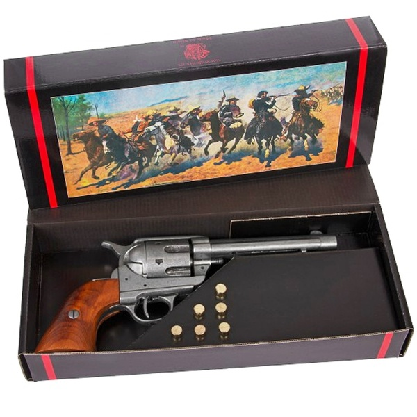 Colt Peacemaker With Wooden Handle Gun Metal Finish