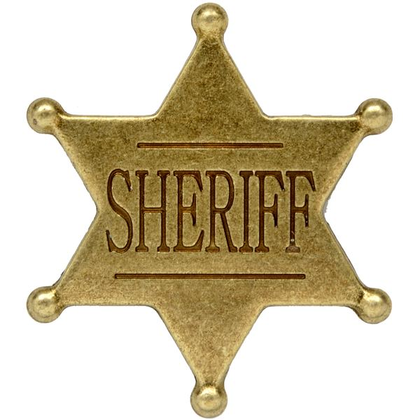 Six Point Ball Tipped Sheriff Badge