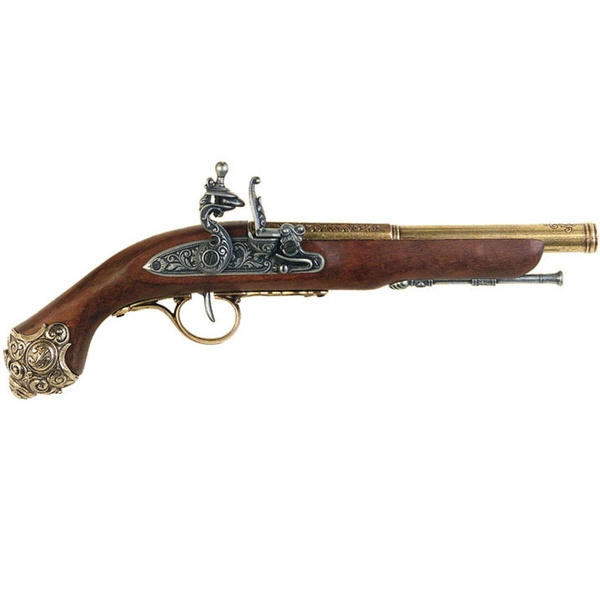 Gold Flintlock Pistol 18th Century
