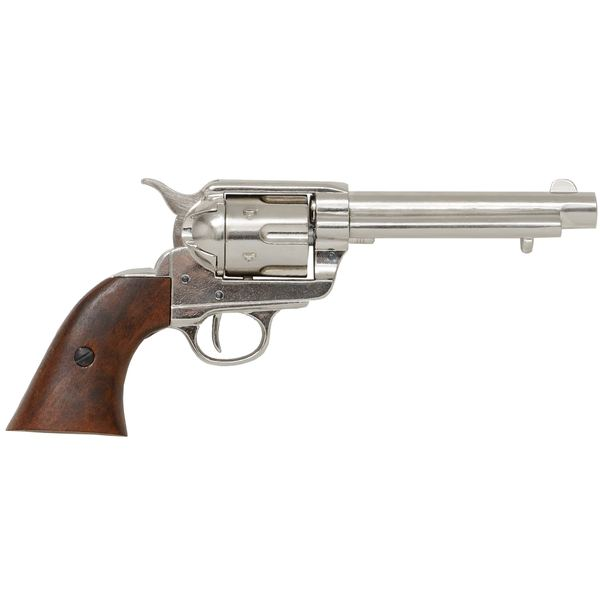 Colt Peacemaker With Wooden Handle Nickel Finish