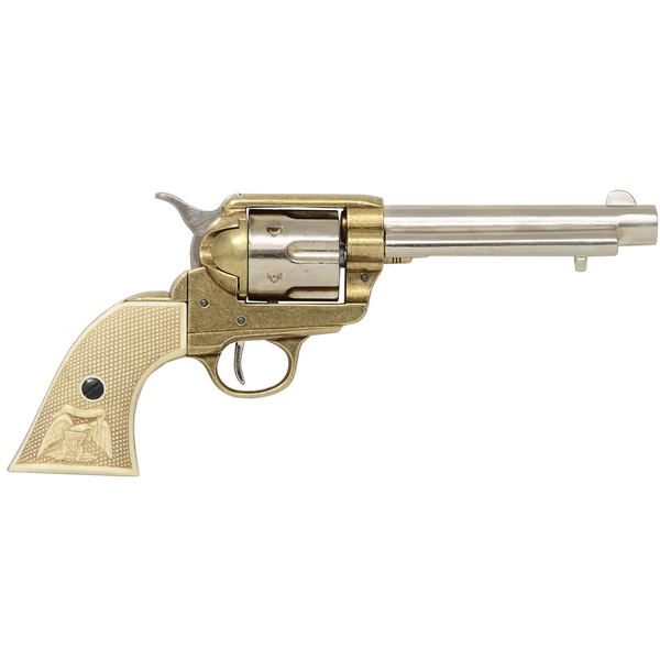 Colt Peacemaker With Ivory Handle Nickel & Brass 1869