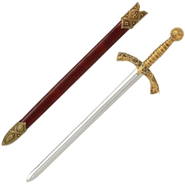 Knights Templar Letter Opener with Scabbard