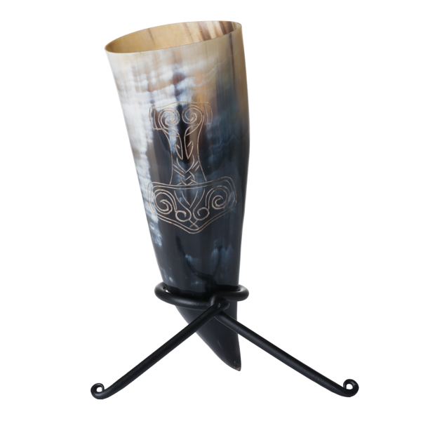 Mjolnir Design Horn with Iron Rack